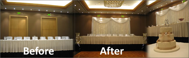 Wedding fairy light back drop system for wedding head table, Auckland