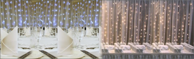 Led Fairy Curtain Light Backdrop Hire For Weddings And Events